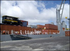 Geest Cargo Ship In St. Kitts - Nevis
