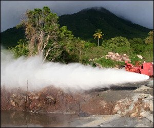 Geothermal Drill Site On Nevis