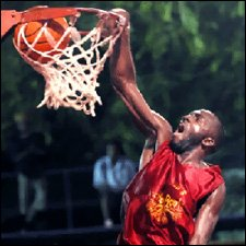 Ghetto Roots Player Levis Fyfield With A Slam Dunk