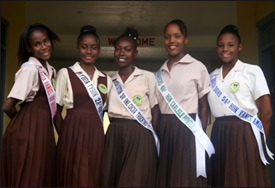 Gingerland Secondary School Pagent Contestants