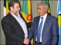 Dr. Ralph Gonsalves and Mokhtar Ghenas