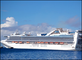The Grand Princess - Off St. Kitts