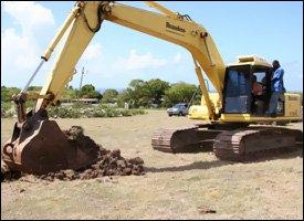 Backhoe Breaks Ground For Brown Hill Medical Centre
