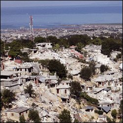 Buildings Destroyed In Haiti By Earthquake