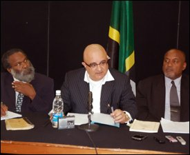 Dr. Henry Browne, Anthony Astaphan, and Sylvester Anthony