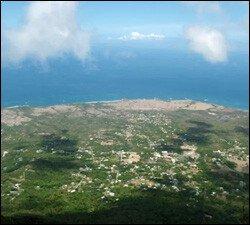 Hiking near the top of Nevis Peak
