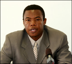 Nevis' Junior Minister of Trade - Dwight Cozier