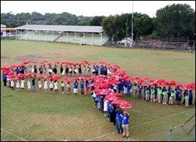 Human World AIDS Day Ribbon