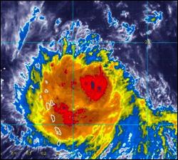 Hurricane Earl Approaches St. Kitts - Nevis