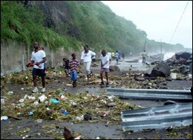 Hurricane Damage St. Kitts