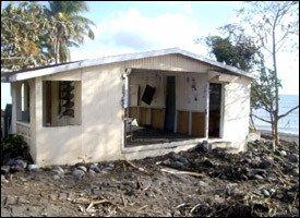 St. Kitts - Home Damaged By Hurricane Omar