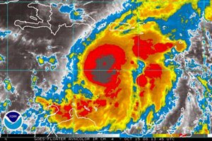 Satellite Image of Hurricane Omar