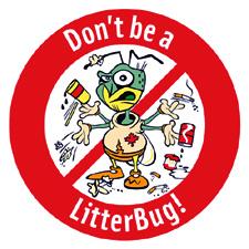 Don't Be A Litterbug!