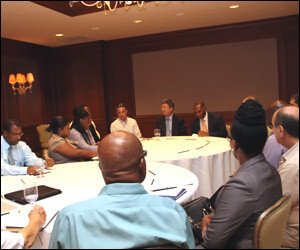 Nevis Business Reps Meet With IMF Officials