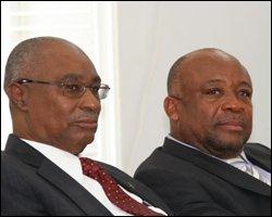 Premier Parry and Finance Minister Daniel