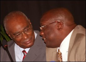 Nevis' Premier Parry With Minister Timothy Harris