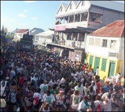 Revelers Celebrate On Jouvert Morning