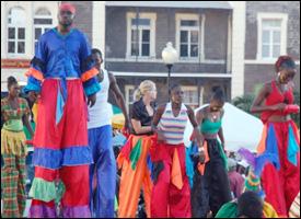 Moko Jumbies at St. Kitts - Nevis' Carnival
