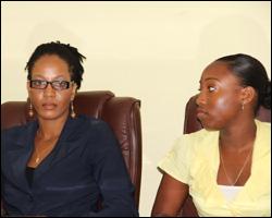Awardees Kamara Louisy and Earline Pemberton