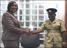 Keisha Jones and Inspector Mills