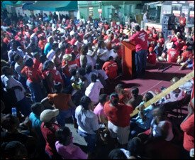 Labour Party Meeting In West Basseterre
