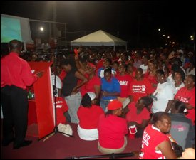 Labour Rally In West Basseterre