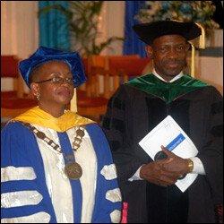Dr. LaVerne Ragster and PM Denzil Douglas