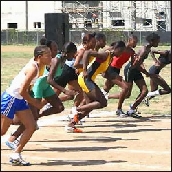 Under 17 Year Old Girls At The Start Of The 800 Meter Race