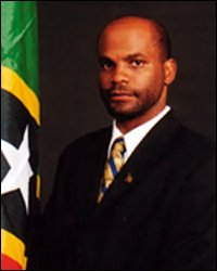 Linday Grant With St. Kitts - Nevis Flag
