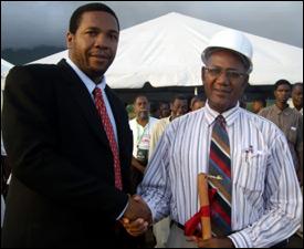 Mr. Glenn Phillip (L) and Mr. Rupert Herbert