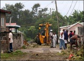 Low Street - Charlestown, Nevis After Omar