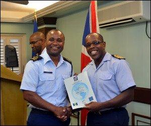Captain Lynn Wilkins Receives Certificate