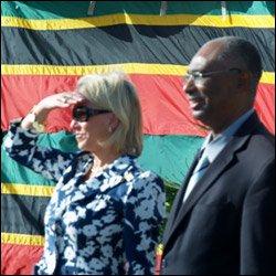 Ambassador Mary Ourisman and Premier Joseph Parry