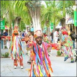 Local Masquerade Dancers Performing