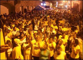 Massive Crowd of PAM Supporters In Basseterre