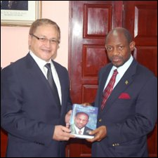 Ambassador Magalhaes with PM Douglas