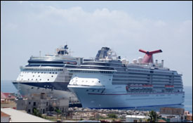 Carnival Victory and Celebrity Millennium at Port Zante