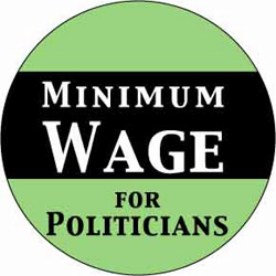 minimum wage for politicians