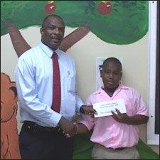 Minister Liburd With Devontae Daniel