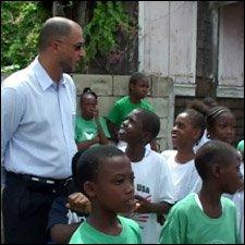 Minister Skerritt With School Children