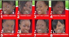 Eight Beauty Contestants