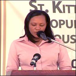 Director of Statistics on Nevis Mrs. Eren Hanley