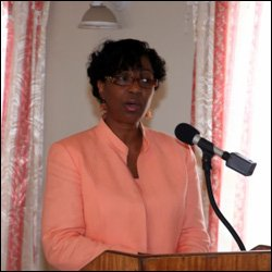 Ministry of Health on Nevis Mrs. Joslyn Liburd