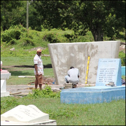 MV Christina Memorial Under Construction