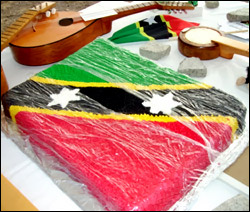 Nevis' 25th Independence Anniversary Cake