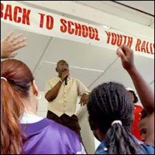 Nevis Church Sponsored Back To School Rally