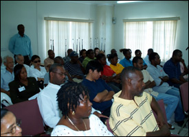 Nevis Business Owner At Meeting On Fighting Crime