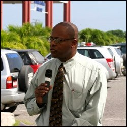 Nevis' Chief Financial Secretary - Laurie Lawrence