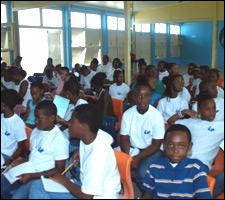 Nevis Children Watch Geothermal Presentation