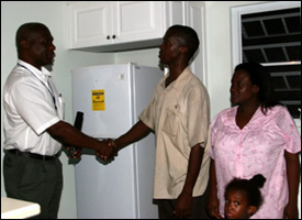 Nevis Family Receives New Home